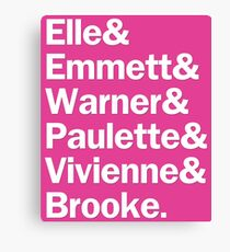 Legally Blonde Characters | Pink Canvas Print