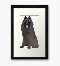 Black Mountain Dog Framed Print