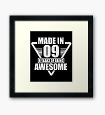 Made In 09 8 Years of Being Awesome Shirt Framed Print
