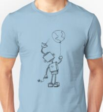 Peace Robot with Earth Balloon Unisex T-Shirt