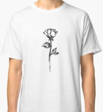 Rose outline Classic T-Shirt