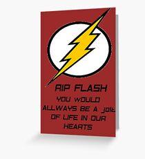 RIP Flash Greeting Card