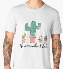 Succulent Plant Shirt Pun Punny Crazy Plant Lady Shirt Gift Men's Premium T-Shirt