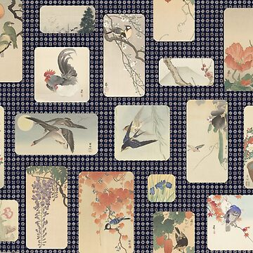 Japanese birds and flowers by GreenNote