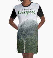 I Dream in Evergreen Graphic T-Shirt Dress