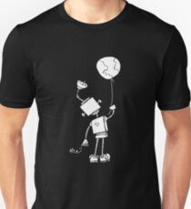 Peace Robot with Earth Balloon - White Unisex T-Shirt