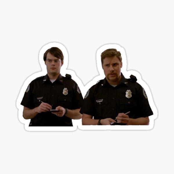 Superbad cops Sticker