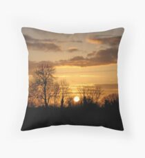 Irish Sunset Throw Pillow
