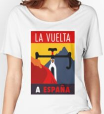 LA VUELTA: Vintage ESPANA Bicycle Racing Advertising Print Women's Relaxed Fit T-Shirt