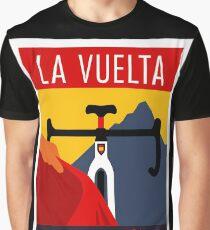LA VUELTA: Vintage ESPANA Bicycle Racing Advertising Print Graphic T-Shirt
