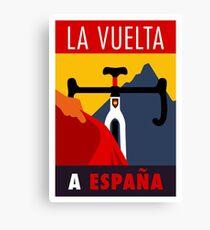 LA VUELTA: Vintage ESPANA Bicycle Racing Advertising Print Canvas Print