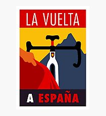 LA VUELTA: Vintage ESPANA Bicycle Racing Advertising Print Photographic Print