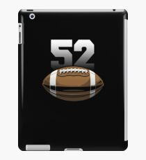 Football Sport Number 52 Graphic iPad Case/Skin