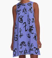 shadowhunter runes large A-Line Dress
