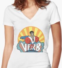 VERB : THAT WHAT'S HAPPENING Women's Fitted V-Neck T-Shirt