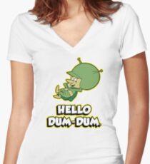 HELLO DUM DUM : GAZOO Women's Fitted V-Neck T-Shirt
