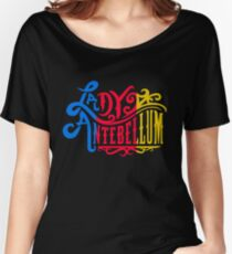 Typoography colored vintage Women's Relaxed Fit T-Shirt