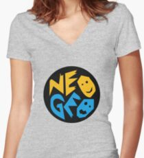 Neo Geo - Logo Women's Fitted V-Neck T-Shirt