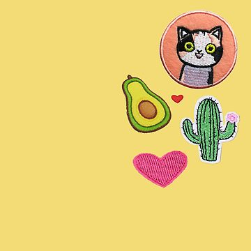 Cactus and Cat Patches by jacqs