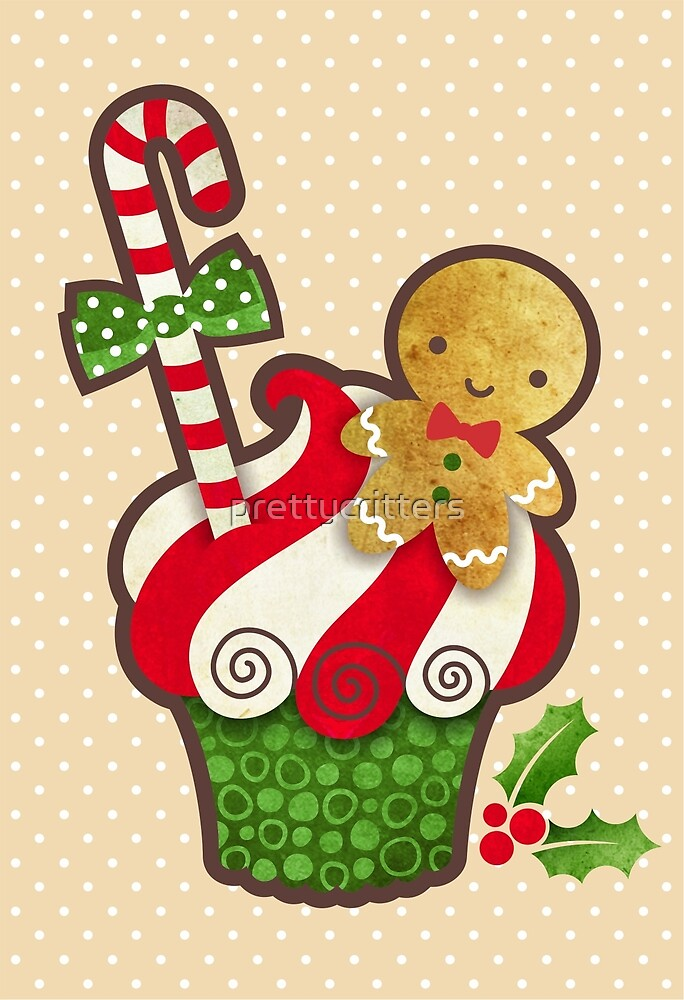 Christmas Cupcake by prettycritters