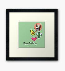 Happy Birthday  - Girl's Badges Framed Print
