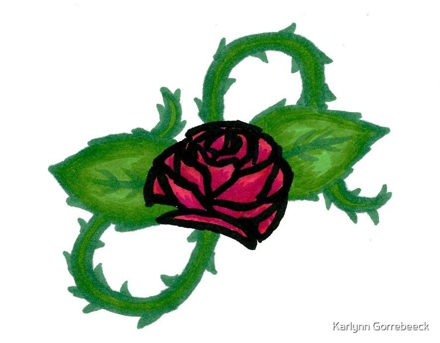Rose in Thorns by Karlynn Gorrebeeck