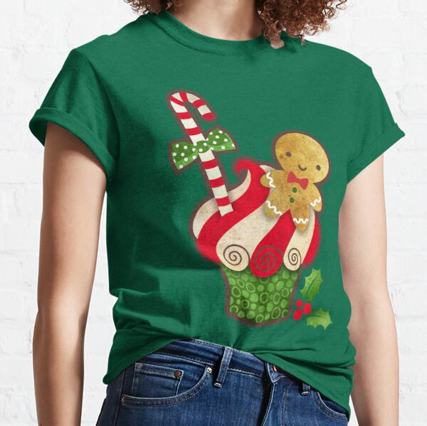Christmas Cupcake Gingerbread Boy Classic T-Shirt