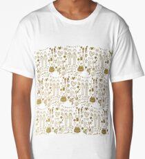 Golden Boys Love Pattern Long T-Shirt