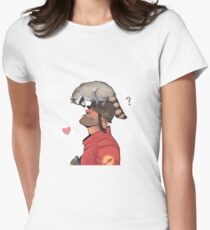 Oh there he is! Womens Fitted T-Shirt