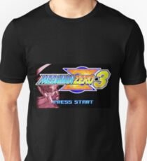 Mega Man Zero 3 Title Screen Unisex T-Shirt