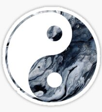 Yin Yang Marmor Sticker