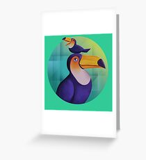 Tropical Toucan Greeting Card