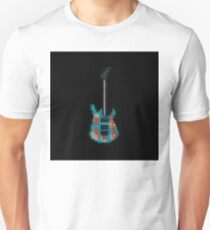 Tiled Pixel Armed and Homeless Guitar Upright Unisex T-Shirt