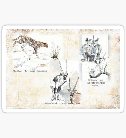 Lodge décor - Wildlife Triptych Sticker