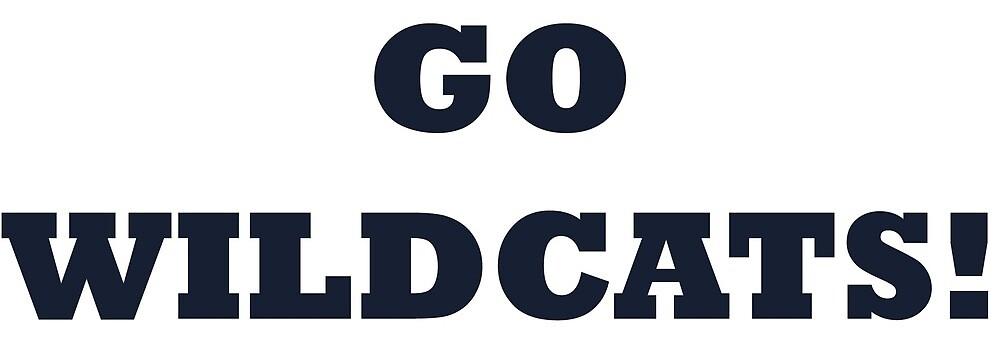 Go Wildcats - dark blue text by mcssmedia