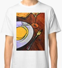Gold Lemon and Fork Classic T-Shirt