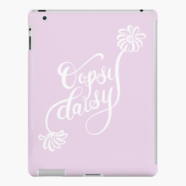Oopsy Daisy White Text Hand Lettered Design iPad Snap Case