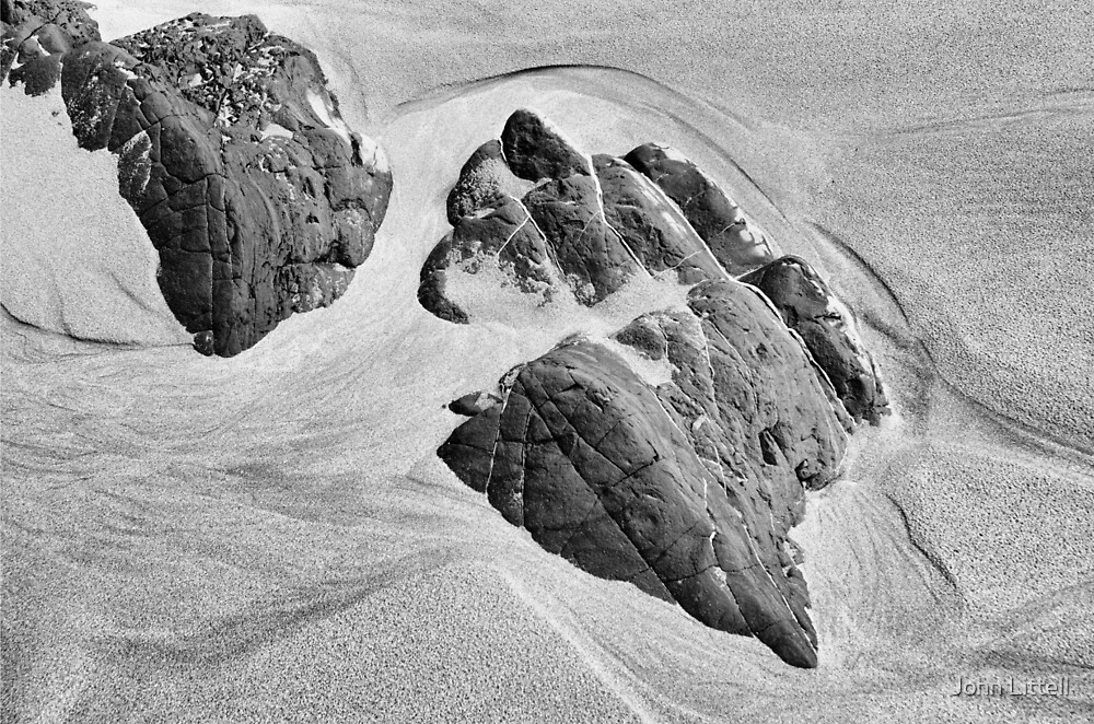 Rocks and Sand, Anchor Bay, Mendocino County, California by John Littell