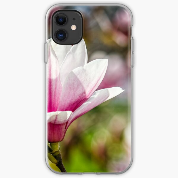Magnolia flower blossom in springtime iPhone Soft Case