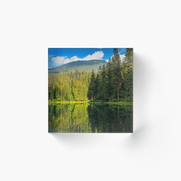 mountain lake among the forest Acrylic Block