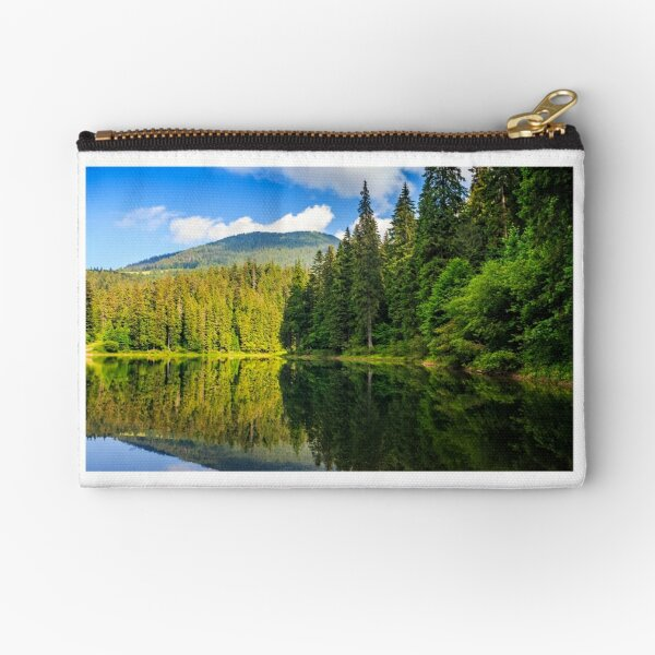 mountain lake among the forest Zipper Pouch