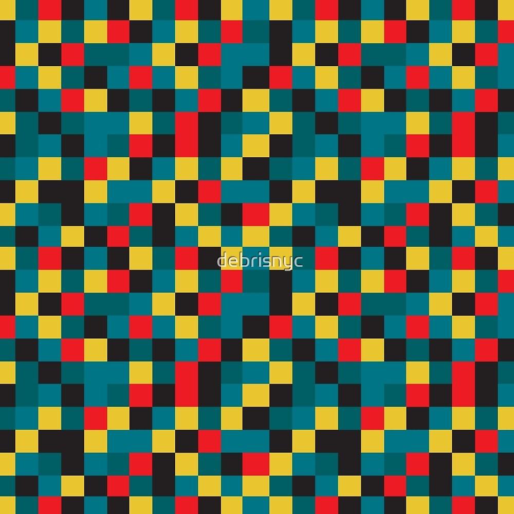 pixels_blue by debrisnyc