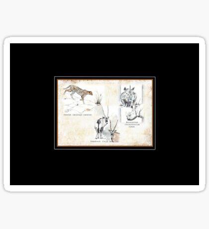 Lodge décor - Wildlife Triptych Mix & Match Throw Pillow Sticker