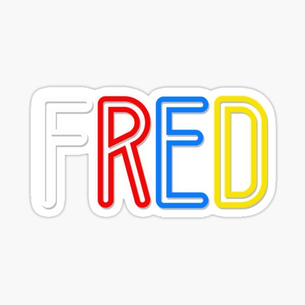 Fred - Your Personalised Products Sticker