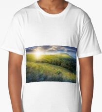 day and night change in high mountain landscape Long T-Shirt