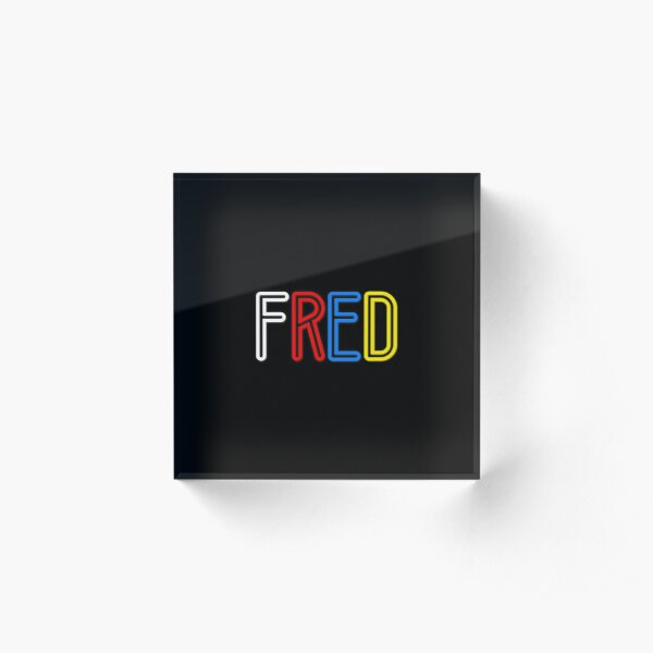 Fred - Your Personalised Products Acrylic Block