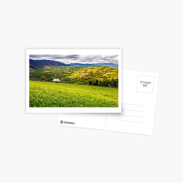agricultural field in mountains Postcard