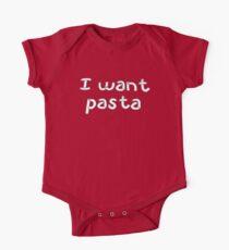 I Want Pasta Kids Clothes