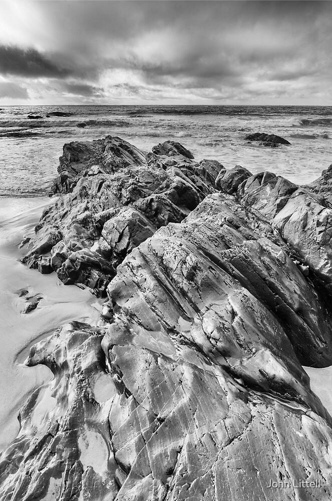 Rocks, Anchor Bay, Mendocino County, California by John Littell