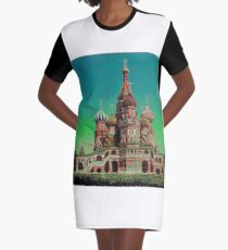 Cathedral of St. Basil the Blessed Russian Orthodox Church Graphic T-Shirt Dress